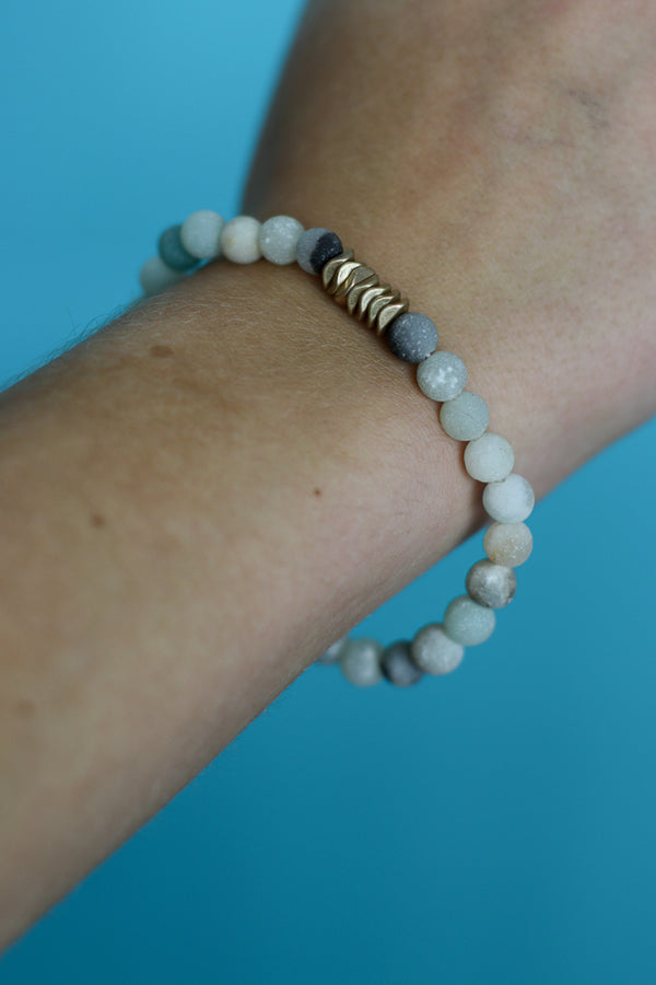 OS / Earth Natural Beaded Bracelet - Madison + Mallory