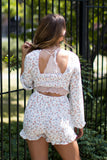 Floral Tie Back Romper - Madison + Mallory