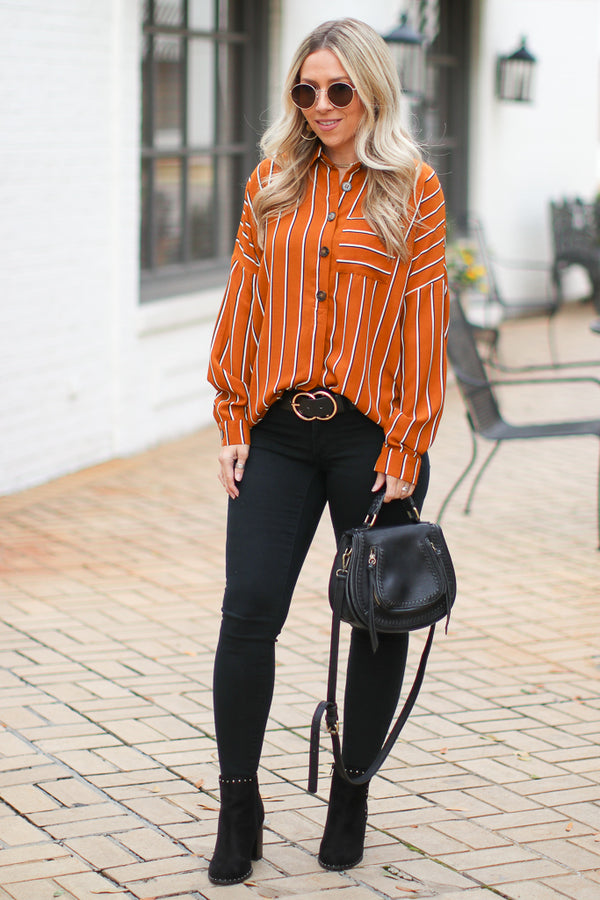 Kinsley Striped Top - Madison + Mallory