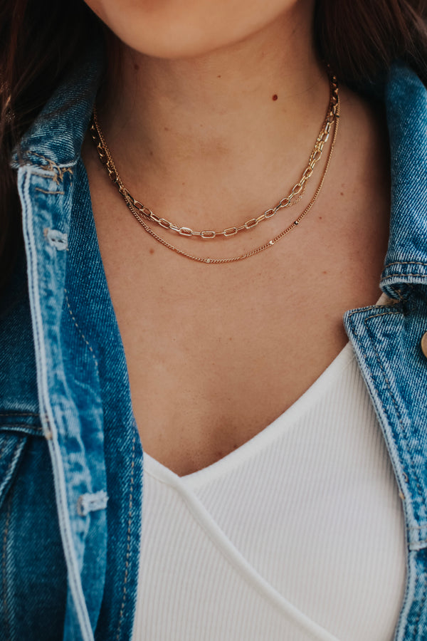 Gold Journi Layered Chain Necklace - Madison and Mallory
