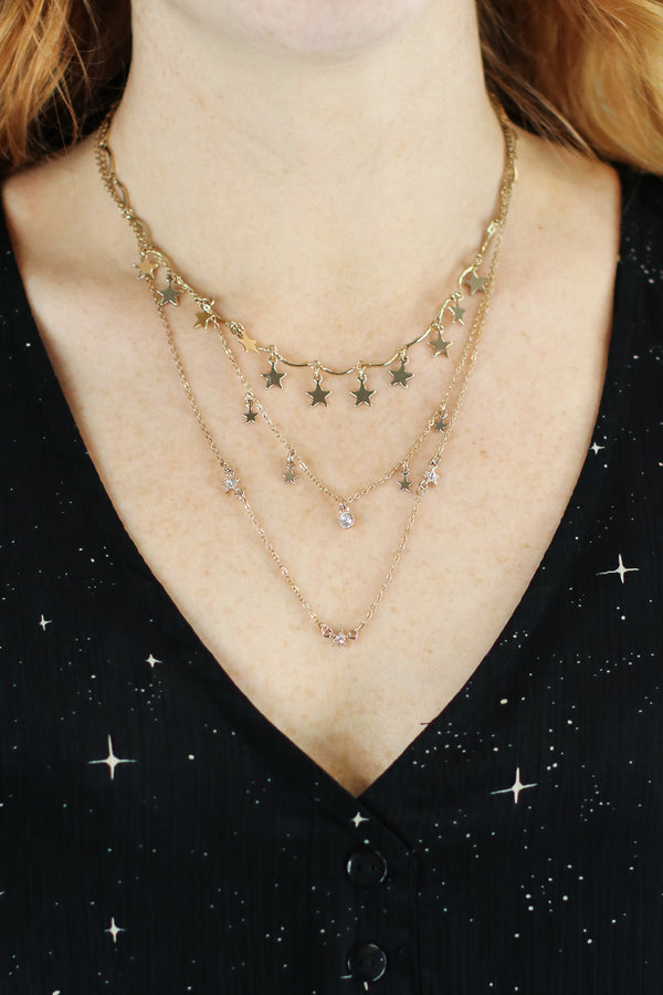 Oasis Star Layered Necklace - Madison and Mallory