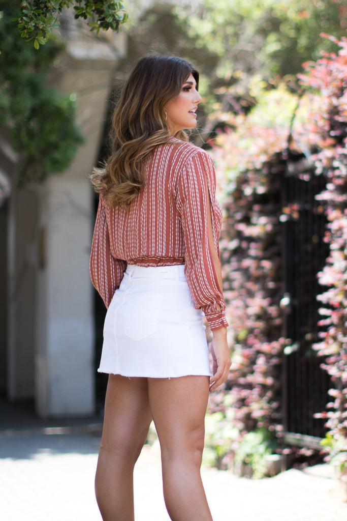 Surplice Striped Top - Madison + Mallory