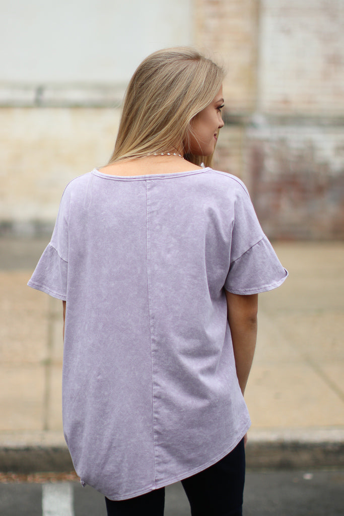 Mineral Wash Side Knotted Top