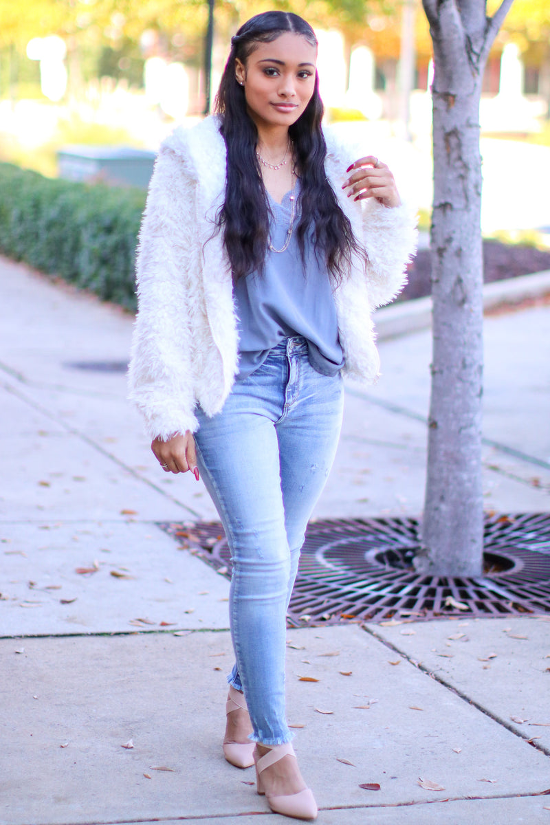 Nothing Compares Faux Fur Jacket - FINAL SALE - Madison and Mallory