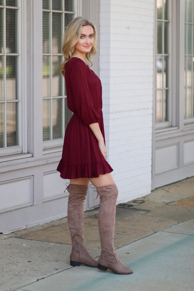 Fair Maiden Crochet Lace Dress - FINAL SALE - Madison + Mallory