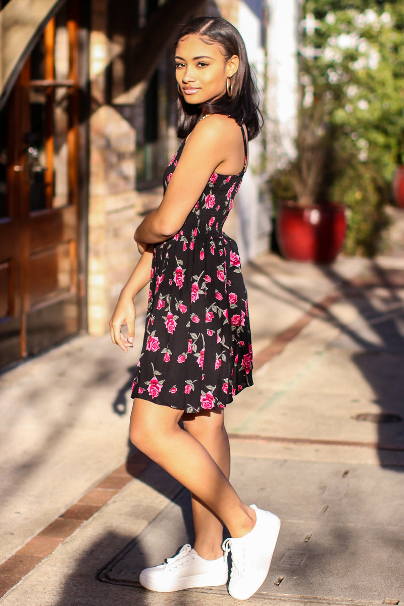 Tristy Smocked Floral Dress - Madison and Mallory