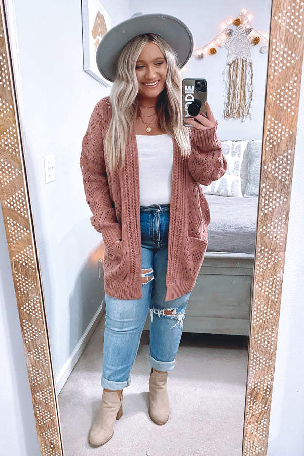 Stylish Standards Pointelle Knit Cardigan - Madison and Mallory