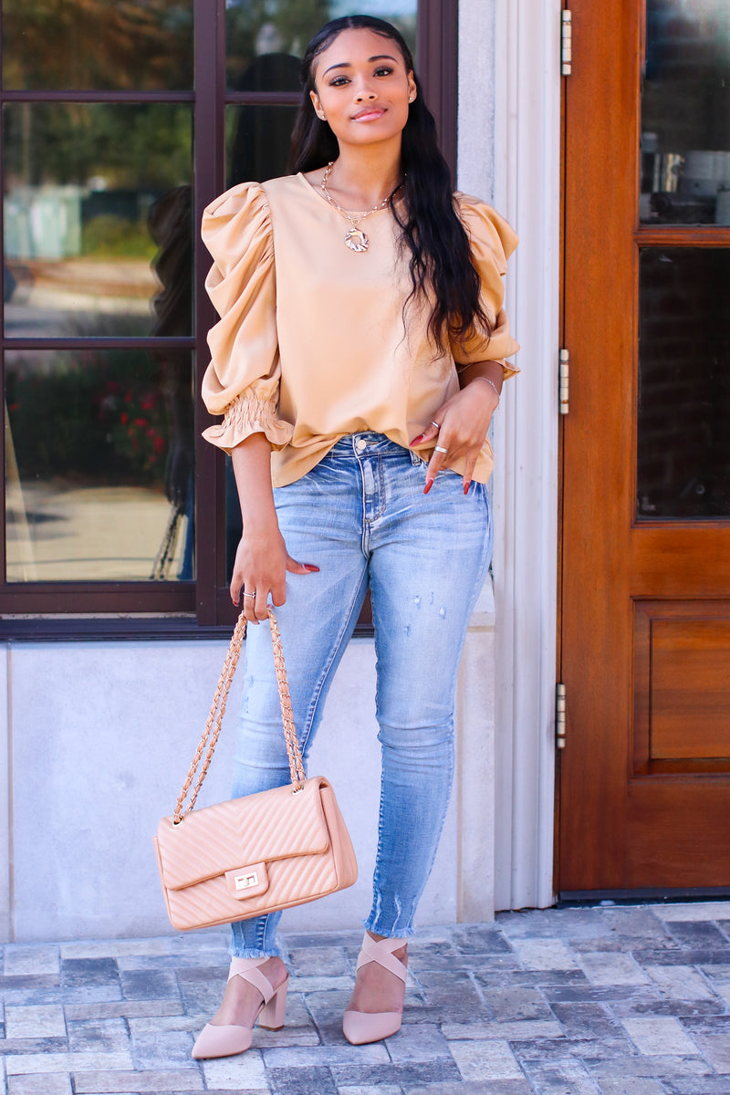 With Finesse Puff Sleeve Top - Madison and Mallory