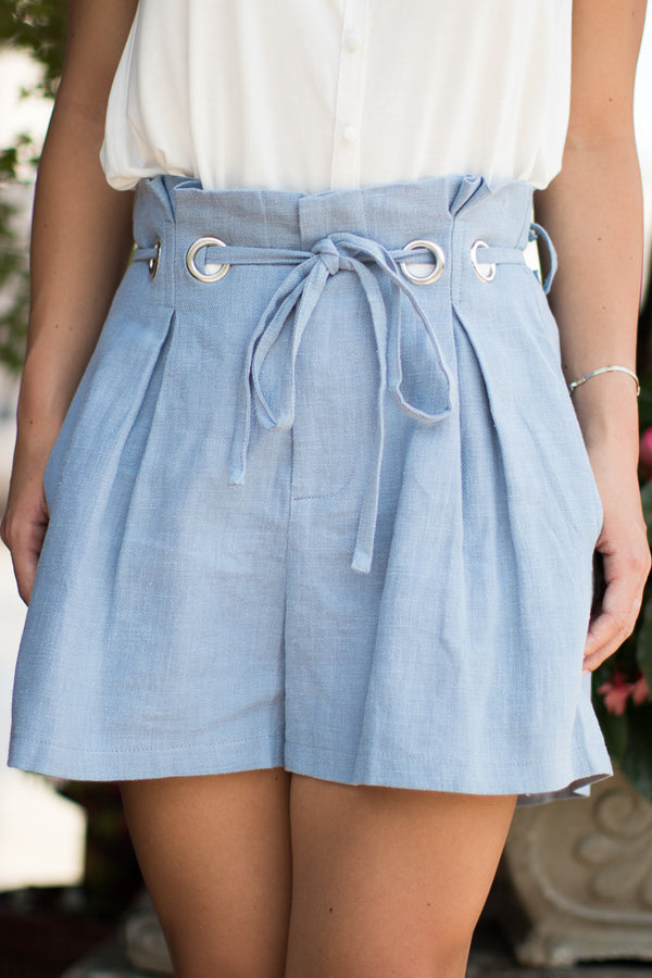 Eyelet Paper Bag Shorts - Madison + Mallory