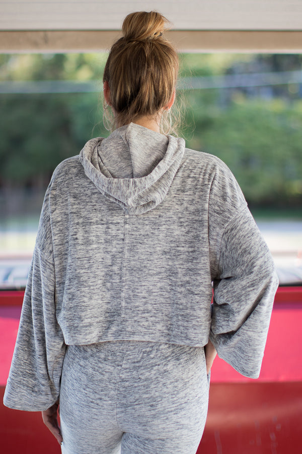 All is Bell Marled Hoodie - Madison + Mallory