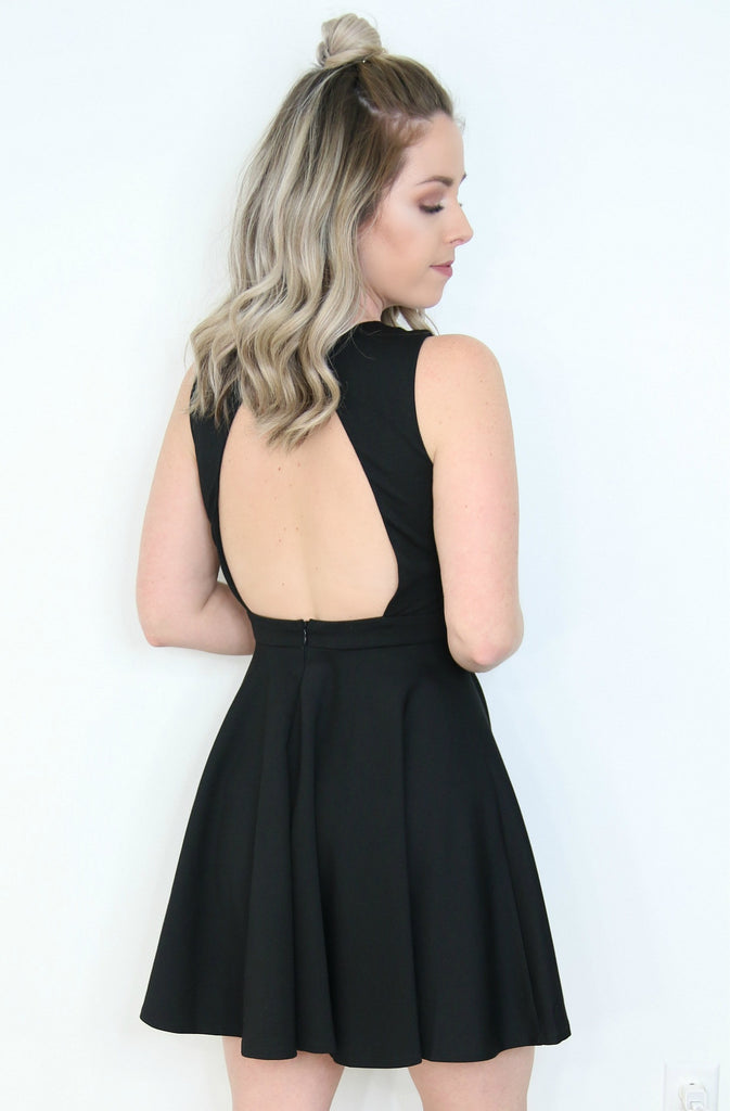 Cutout Neck Detail Dress