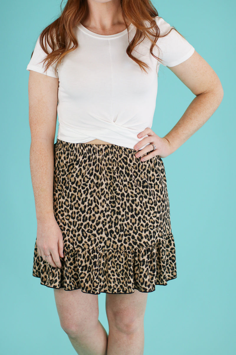 Steps Ahead Leopard Ruffle Skirt - Madison and Mallory
