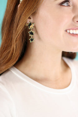 Beige Wild Star Leopard Drop Earrings - Madison and Mallory