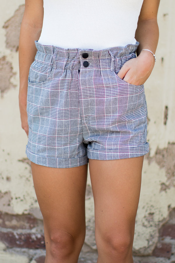 M / Check The Perfect Pair Shorts - Madison + Mallory