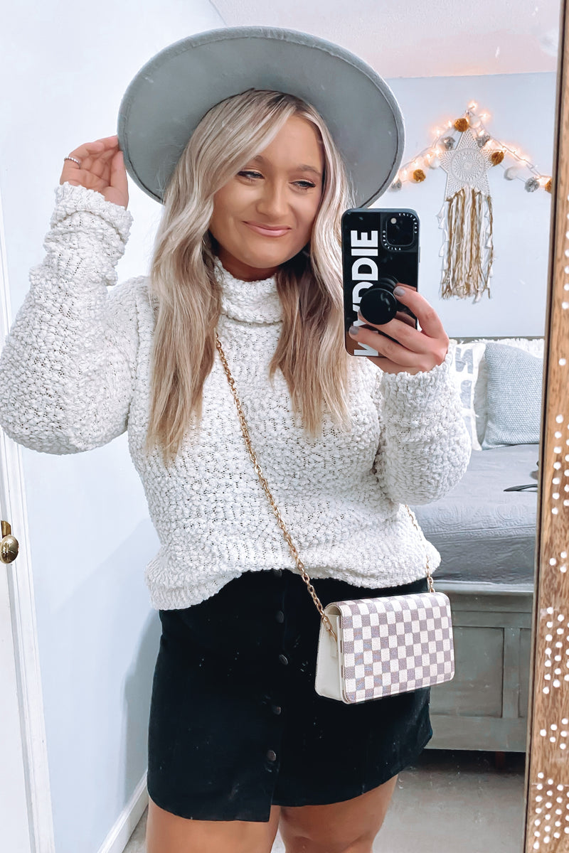 Nash Popcorn Knit Turtleneck Sweater - Madison and Mallory