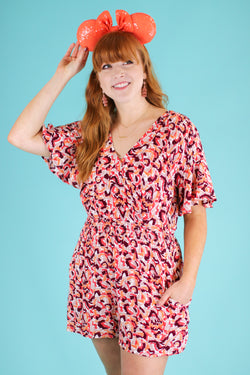 Charming Effect Floral Surplice Romper - Madison and Mallory