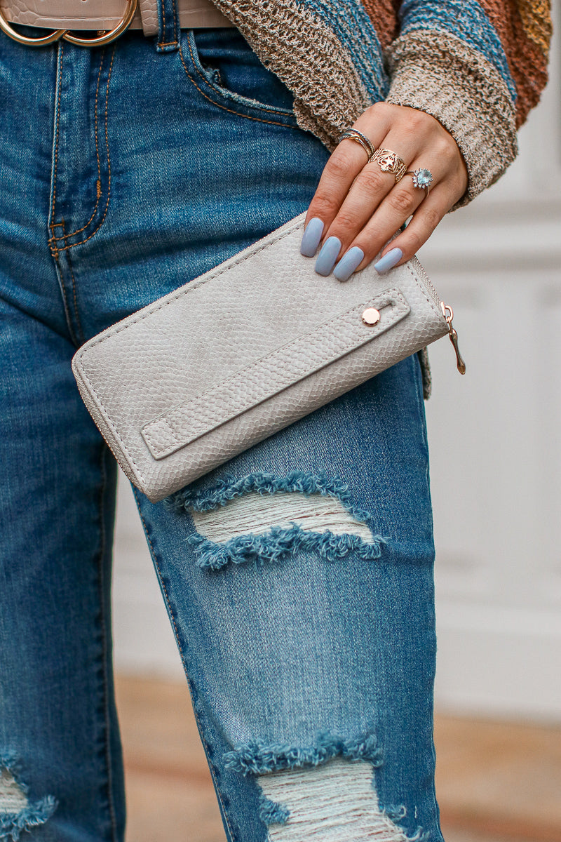 Hughes Faux Leather Zip Wallet + MORE COLORS - Madison + Mallory