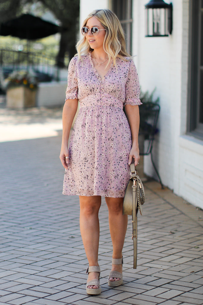 Speak Now Floral Dress - Madison + Mallory