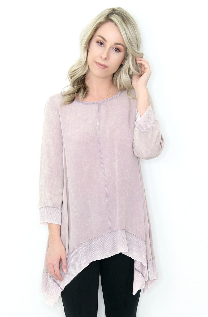 Mineral Washed Tunic Top