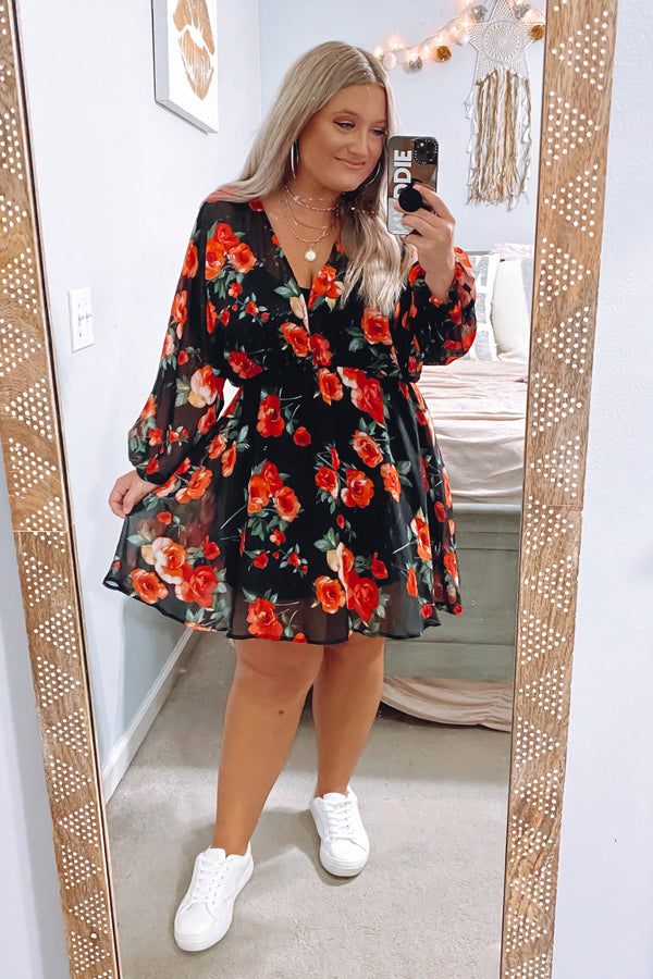 Quick Hello Floral V-Neck Dress - Madison and Mallory
