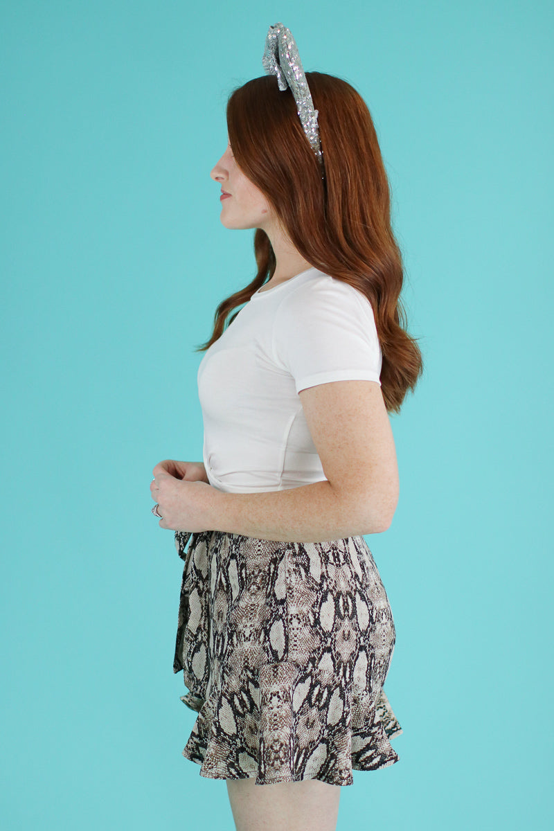 Hiss and Makeup Tie Waist Shorts - Madison and Mallory