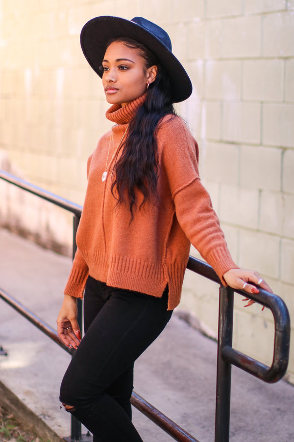 SM / Camel Pelham Turtle Neck Sweater - Madison and Mallory