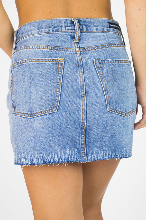 Janelle Denim Skirt - Madison + Mallory