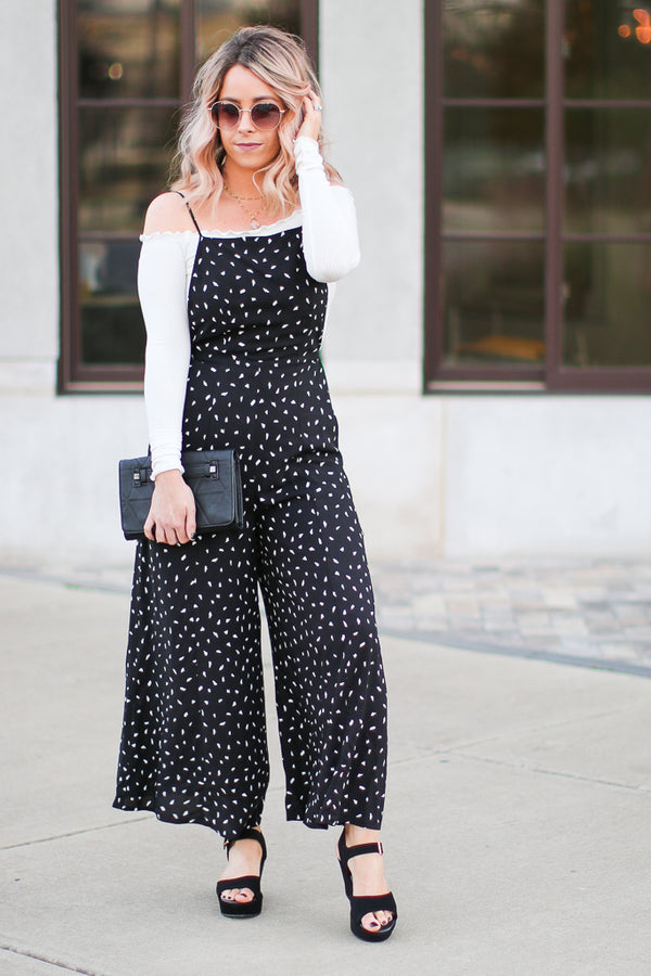 S / Black Lainey Jumpsuit - Madison + Mallory