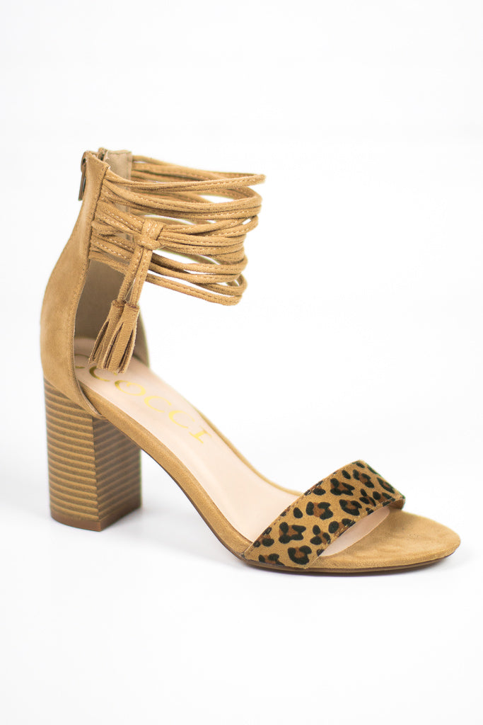 Tassel Ankle-Wrap Heels - Madison + Mallory