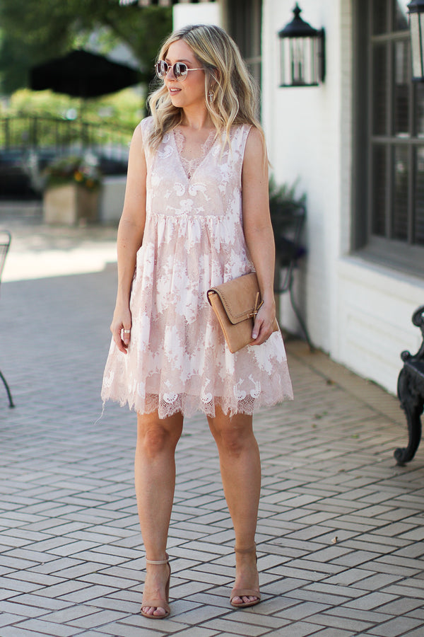 Sweet Emotion Floral Lace Dess - Madison + Mallory