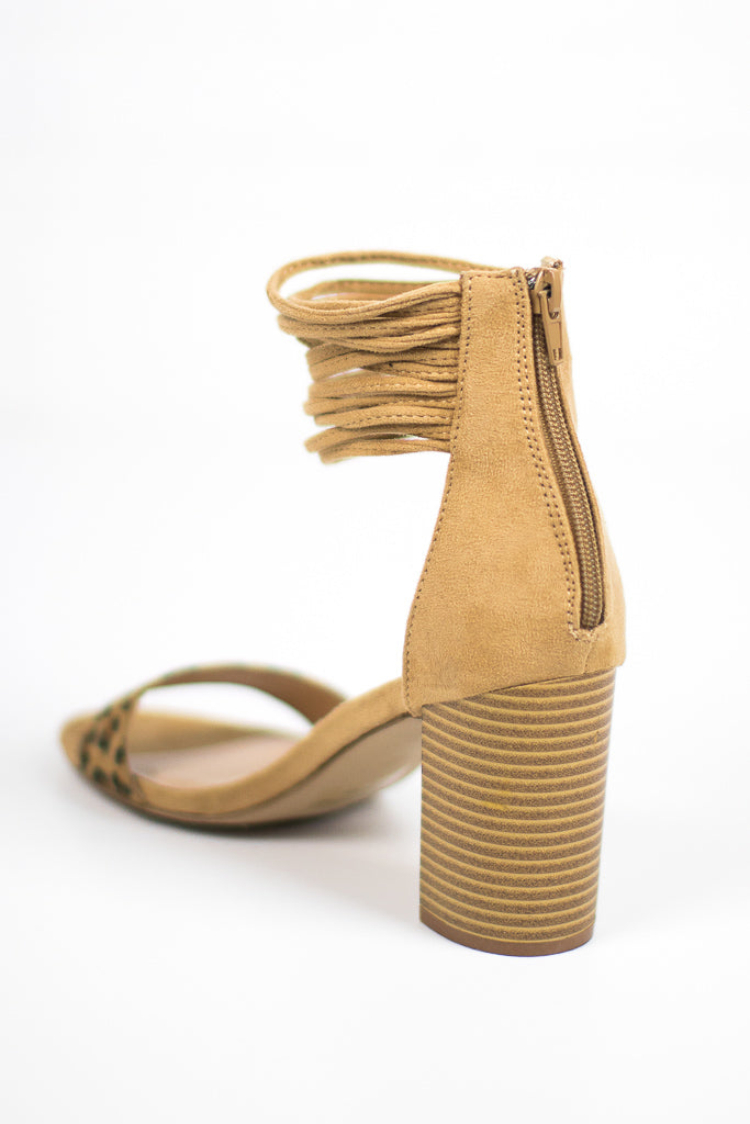Tassle Ankle-Wrap Heels - Madison + Mallory