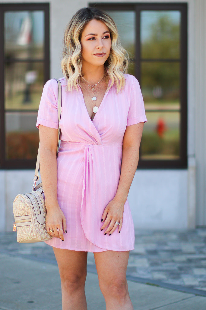 From the Start Twist Front Shirt Dress - FINAL SALE - Madison + Mallory