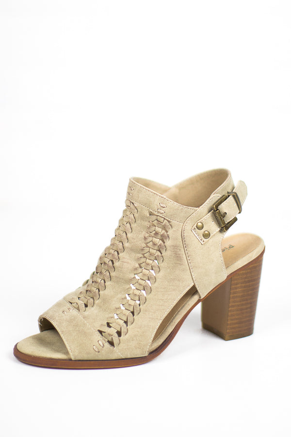 7 / Nude Aria Heels - FINAL SALE - Madison + Mallory