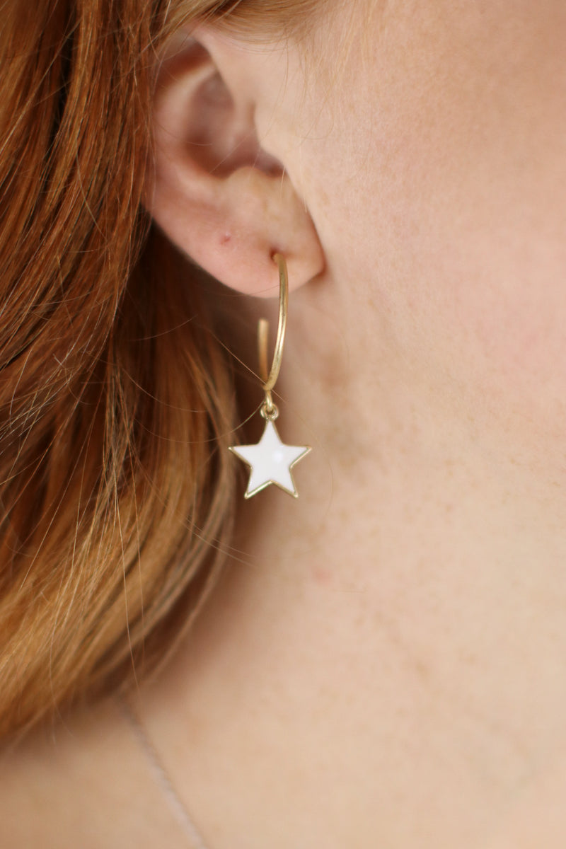 Fan Girl Star Drop Earrings - Madison and Mallory