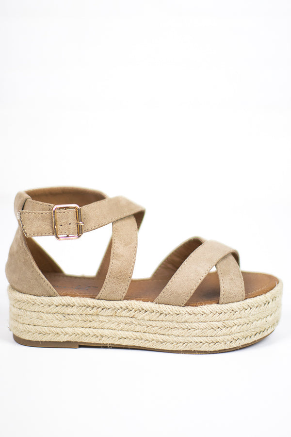 Natural / 5.5 Espadrille Flatforms - FINAL SALE - Madison and Mallory