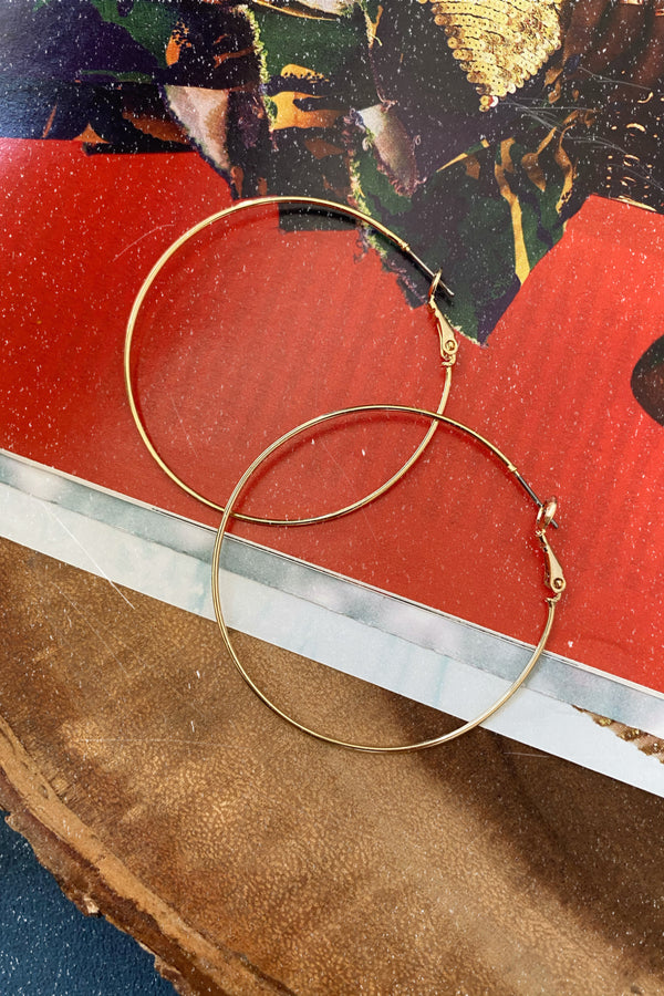 Gold Melodious Moves Hoop Earrings - Madison and Mallory