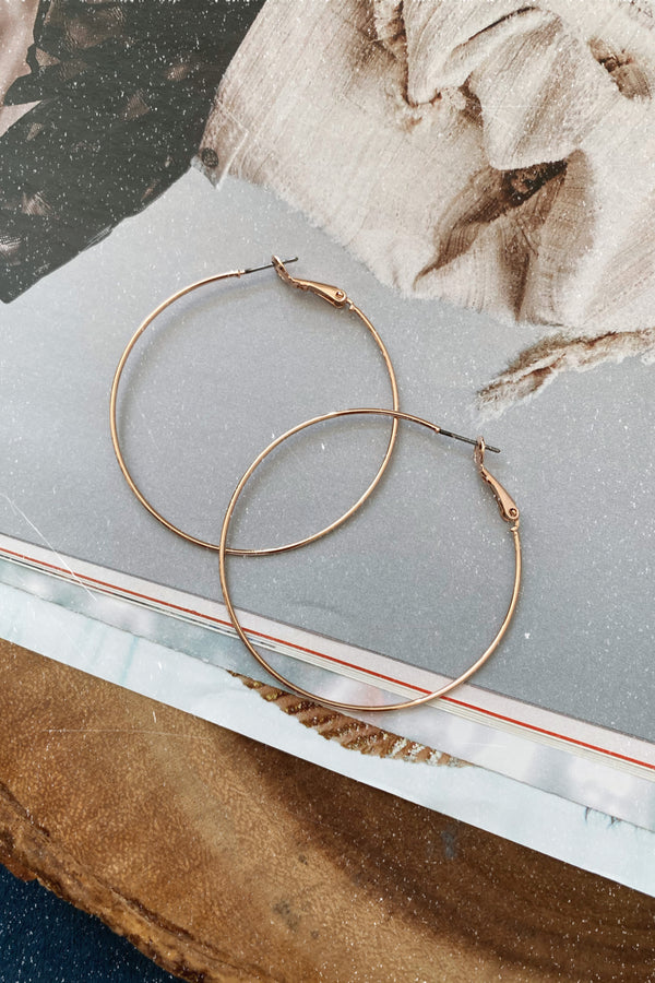Rose Gold Melodious Moves Hoop Earrings - Madison and Mallory