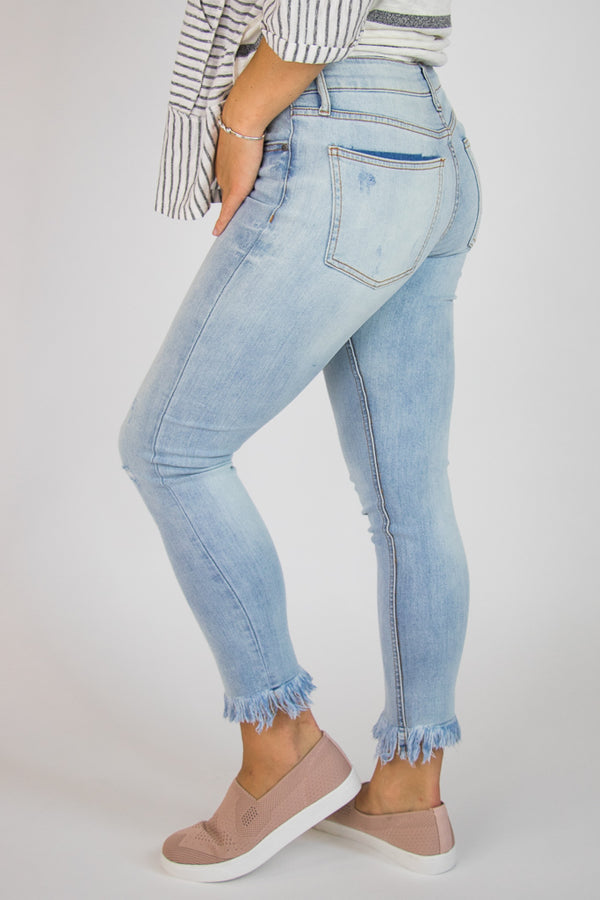Chelsea Distressed Jeans - Madison + Mallory
