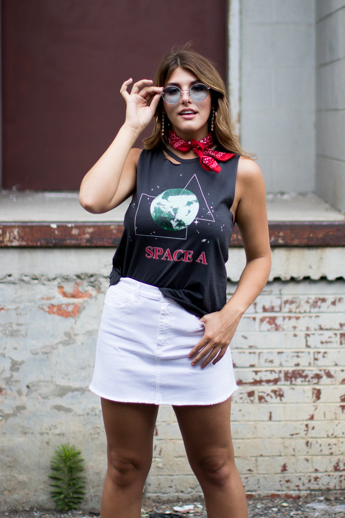 Space Graphic Tank Top - Madison + Mallory