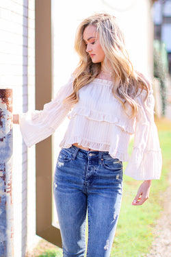 Janette Off Shoulder Tiered Top - Madison and Mallory