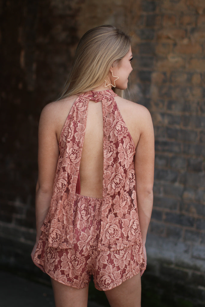 Lace Detail Romper - Madison + Mallory