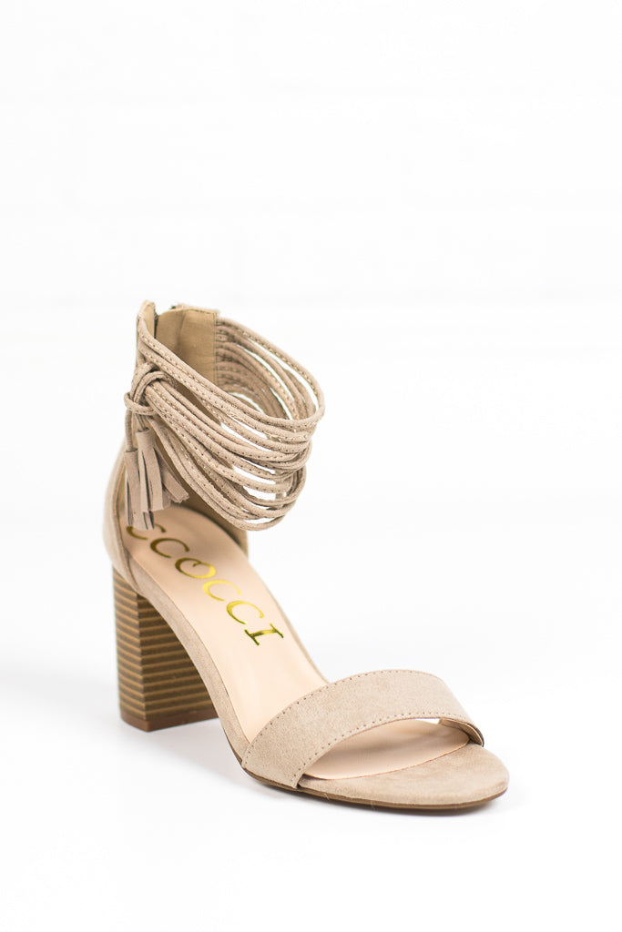Tassel Ankle-Wrap Heels + MORE COLORS - FINAL SALE - Madison + Mallory