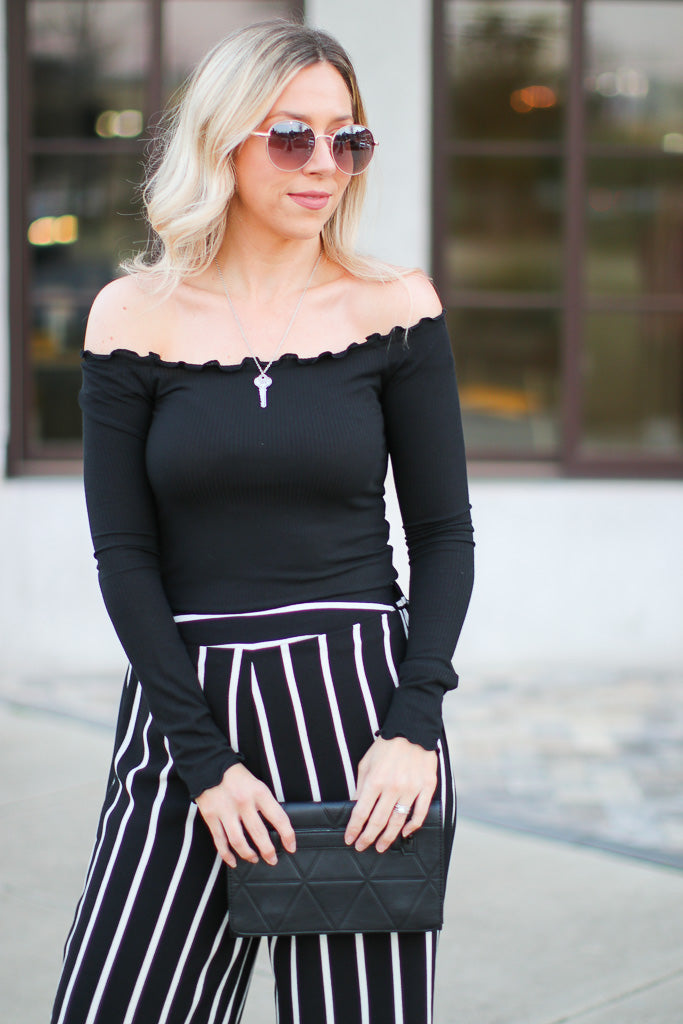 Alexina Ribbed Off Shoulder Top + MORE COLORS - Madison + Mallory