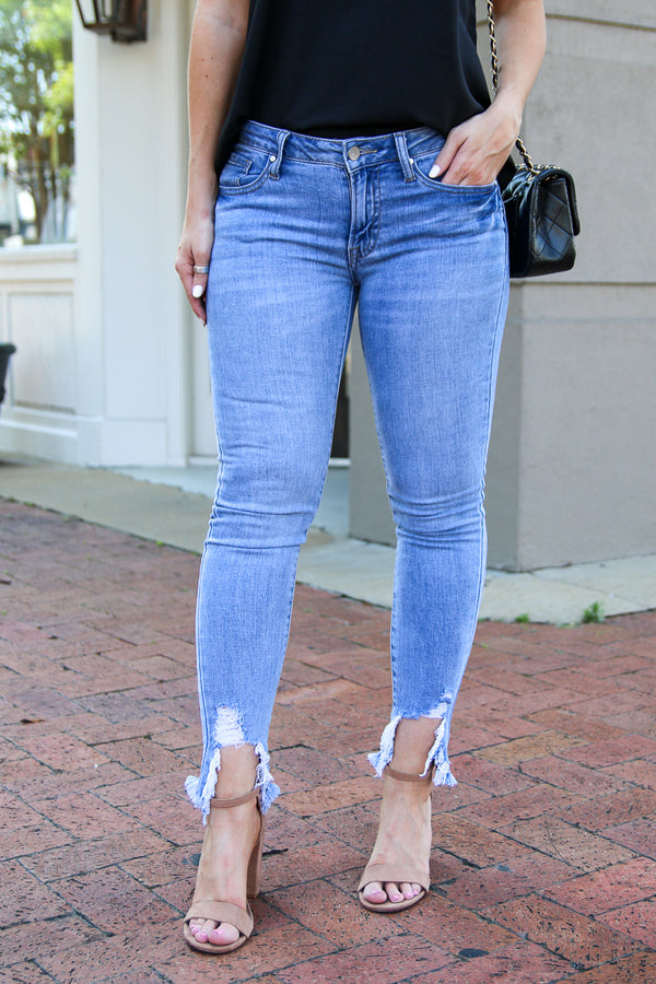1 Follow Back Skinny Ankle Jeans - FINAL SALE - Madison and Mallory