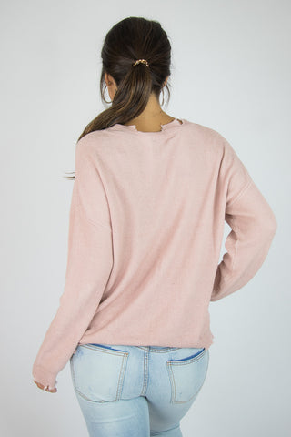 Snipped Detail Sweater - Madison + Mallory
