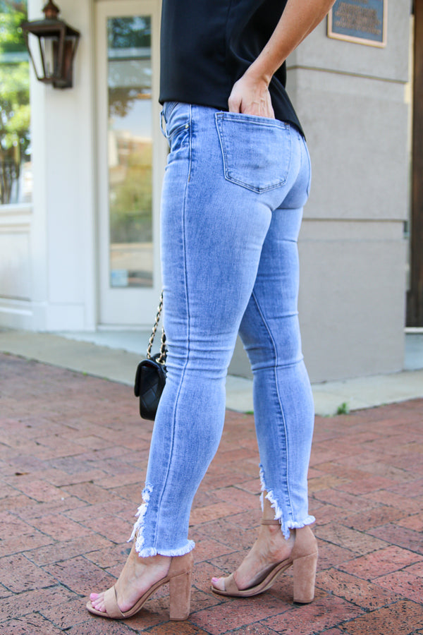 Follow Back Skinny Ankle Jeans - Madison + Mallory