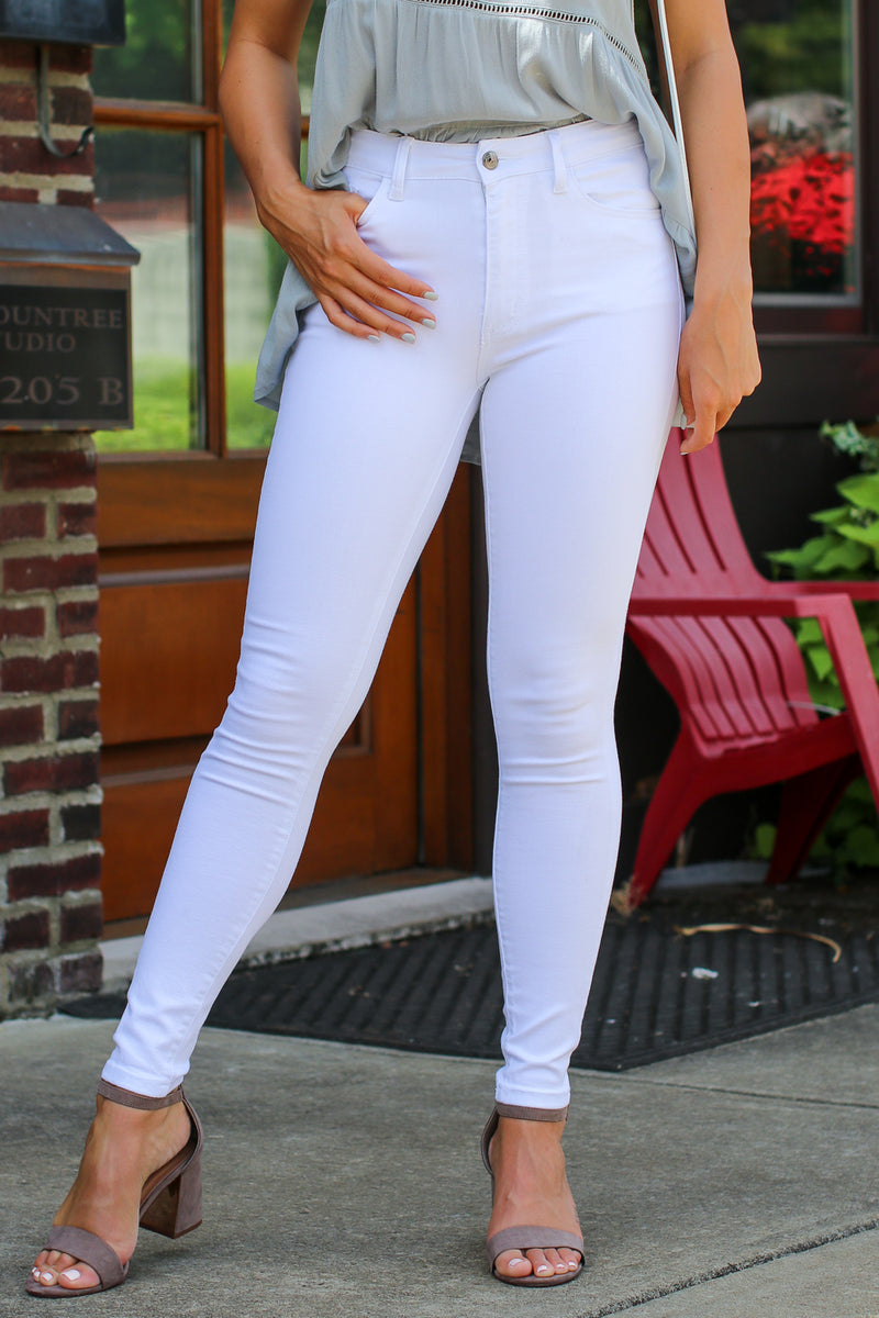 Heidi White Jeans - FINAL SALE - Madison + Mallory