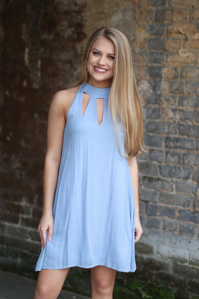 Periwinkle Cutout Detail Dress - Madison + Mallory