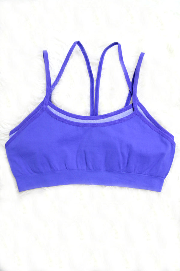 XS/S / Purple Two Layer Sports Bra + MORE COLORS - FINAL SALE - Madison + Mallory