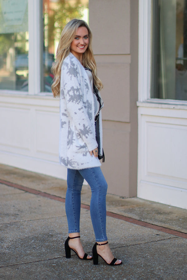 Madison Marble Knit Cardigan - FINAL SALE - Madison and Mallory